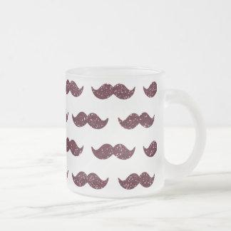 Wine Glitter Mustache Pattern Printed Mugs