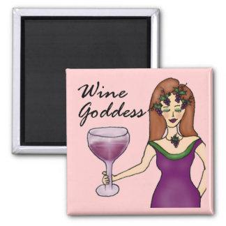 Wine Goddess Divinely Pink Magnet
