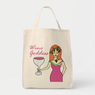 Wine Goddess Pink Ribbon Breast Cancer Awareness