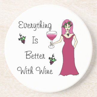 "Wine Goddess Simply Divine ""Better With Wine"" Coaster"