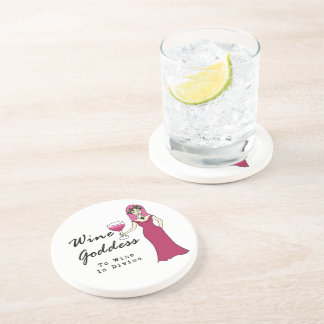 "Wine Goddess ""Wine Is Divine"" Coaster"