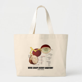 Wine Grape Berry Anatomy (Scientific Diagram) Large Tote Bag