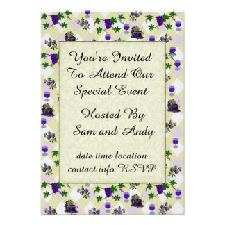 Wine, Grapes, and Jelly Custom Announcement