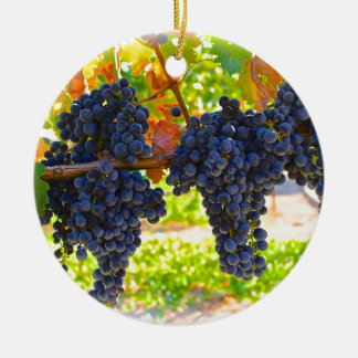 Wine grapes christmas ornament