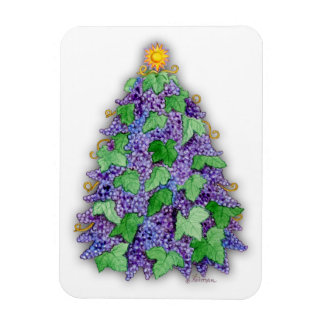 Wine Grapes Christmas Tree Magnet