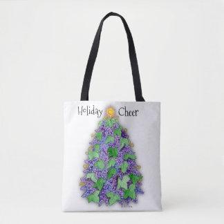 Wine Grapes Christmas Tree Tote Bag