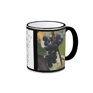 Wine grapes coffee mug