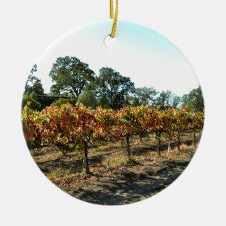 Wine Grapes in Mendocino County, California Christmas Ornament