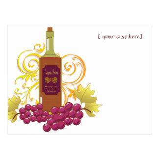 Wine & Grapes Postcard