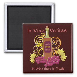 Wine & Grapes Square Magnet