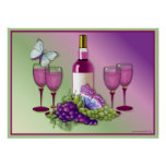 Wine & Grapes Toast 2 Poster