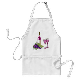 Wine & Grapes Toast Standard Apron