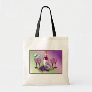 Wine & Grapes Toast Tote Bag