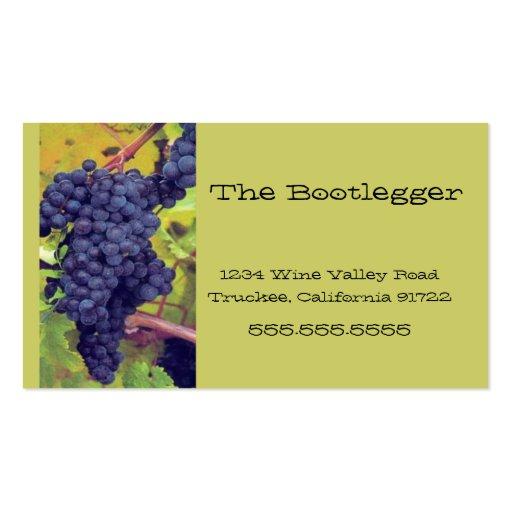 Wine-Grapes-Vineyard- Italian Resturant Business Card