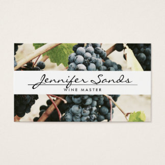 WINE GRAPES, WINERY, WINE MASTER Business Card