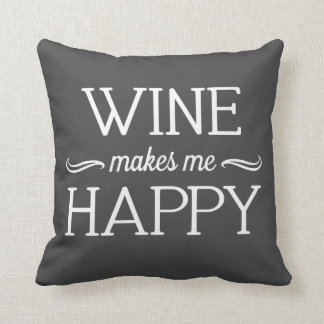 Wine Happy Pillow - Assorted Styles & Colors Cushion