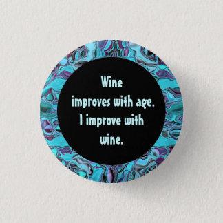 wine humor 3 cm round badge