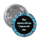 wine humour buttons