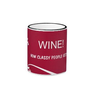 Wine illustration mug