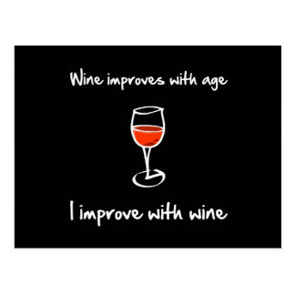 Wine Improves Postcard