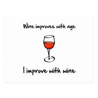 Wine Improves Postcard