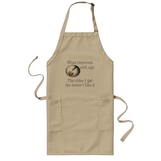 Wine improves with age #3 aprons