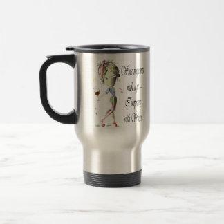 Wine improves with age, humorous art gifts travel mug