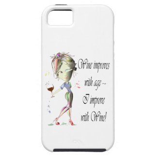 Wine improves with age, humorous Women and Wine iPhone 5 Cover