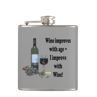 Wine improves with age I improve with Wine Flask
