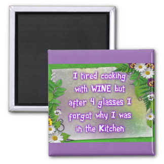 Wine in the Kitchen Magnet