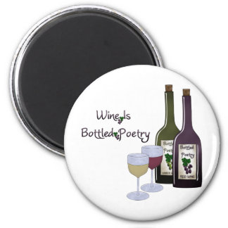 Wine Is Bottled Poetry Collection Refrigerator Magnets