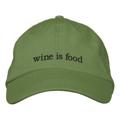WINE IS FOOD ACCESORIES EMBROIDERED BASEBALL CAP
