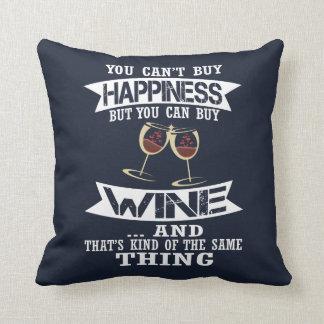 Wine is Happiness Cushion