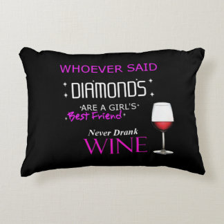 Wine Is My BFF Accent Pillow