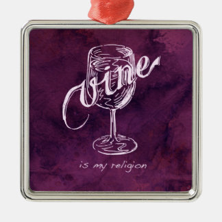 Wine is my religion! christmas ornament