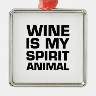 Wine Is My Spirit Animal Christmas Ornament