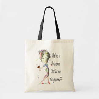 Wine is the Answer - what was the question?? Budget Tote Bag