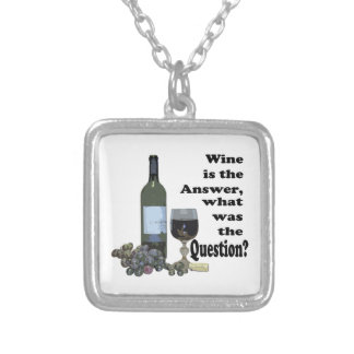 Wine is the answer, what was the Question?  Gifts Custom Necklace