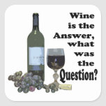 Wine is the answer, what was the Question?  Gifts Stickers