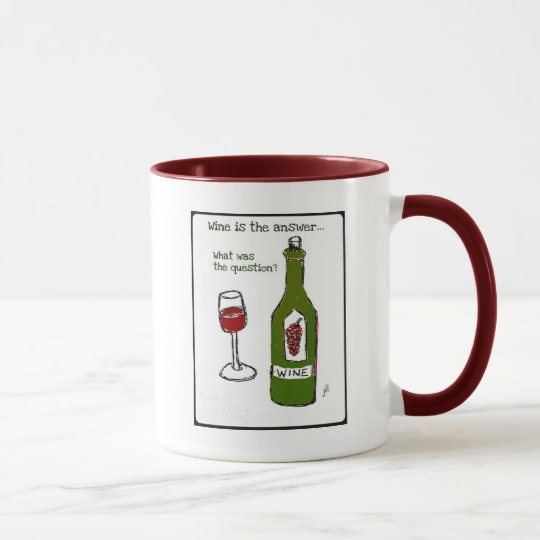 Wine is the Answer...What was the question? Print Mug