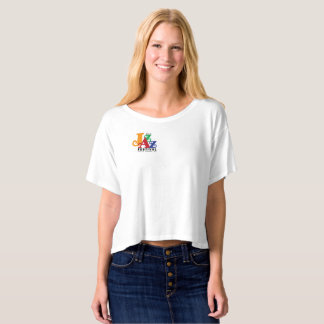 Wine & Jazz Bella Boxy Crop Top T-Shirt