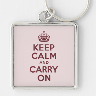 Wine Keep Calm and Carry On Key Ring