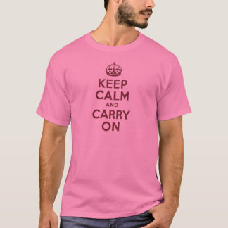 Wine Keep Calm and Carry On T-Shirt