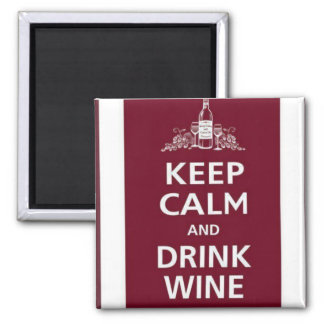 "WINE: ""KEEP CALM AND DRINK WINE"" MAGNET"