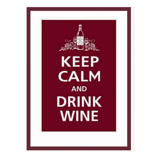 """WINE: """"KEEP CALM AND DRINK WINE"""" POST CARDS"""