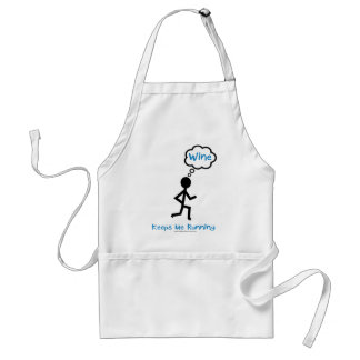 Wine - Keeps Me Running Standard Apron