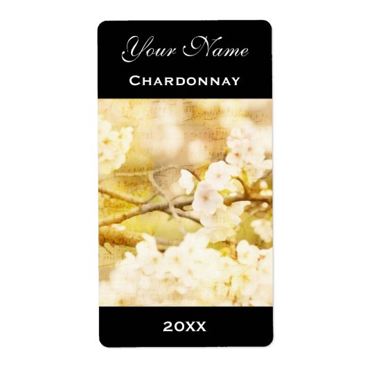 Wine Label Template Lovely White Cherry Blossoms Shipping Label