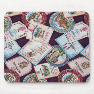 Wine Labels Mouse Pad
