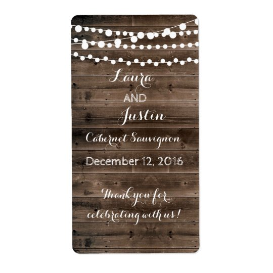 Wine Labels - Winter Wedding
