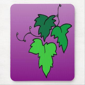 Wine leaves cartoon mouse pad